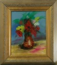 flowers in gold frame smal